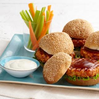 BBQ-Buffalo Chicken Burgers