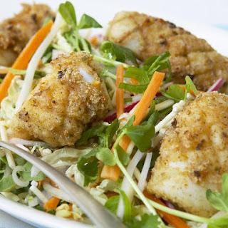 Salt and Pepper Squid with Crispy Noodle Salad.