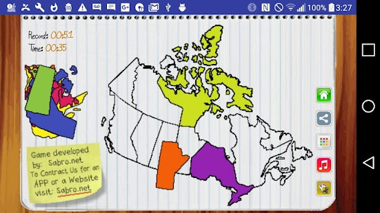 Canada Map Puzzle Game Free- screenshot thumbnail