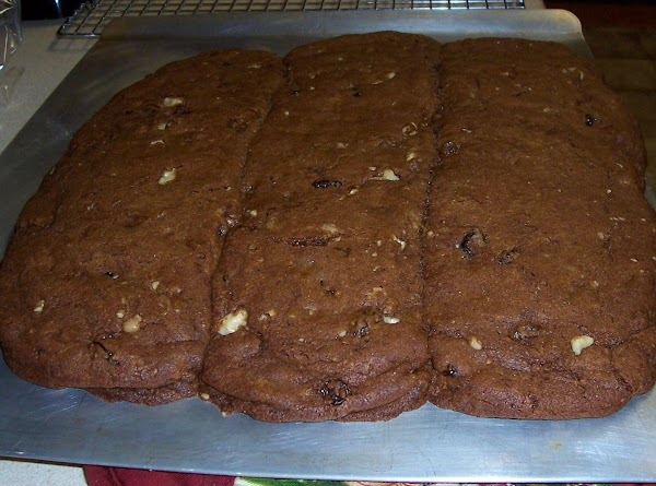 Grease a large cookie sheet. Make 3 lengths about 3 inches wide. Sprinkle tops...