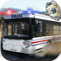 Police Staff Bus Transport 3D icon