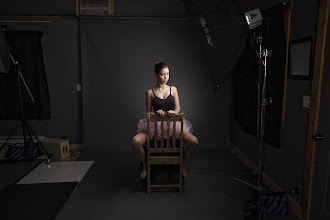 Photo: Where The Magic Happens :)  Model: Lydia Rose Gooch  Not a very good behind the scenes, because the background light is obstructed by the chair and the fill light is behind me, out of view.  Lighting info: - AlienBee B800 in med. soft box, camera right, at aprox. 30 degree angle - AlienBee B800 in med. octabox behind camera, up high, for fill - AlienBee B800 with 40 degree grid behind subject, aimed at Thunder Grey seamless background  Canon 5d Mkll Canon 24-105mm 'L' Lens F/11 - 125th sec. - 125 ISO Photoshop CS6*