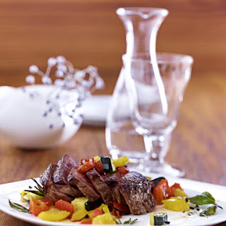 Steak with Sautéed Vegetables