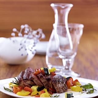 Steak with Sautéed Vegetables.