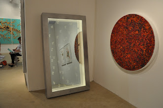 """Photo: Another """"view"""" of Rachel Lee Hovnanian's """"Abu Dhabi Lights"""" (2011) at Leila Heller Gallery"""