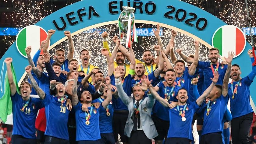 Italia celebra su segunda Eurocopa.