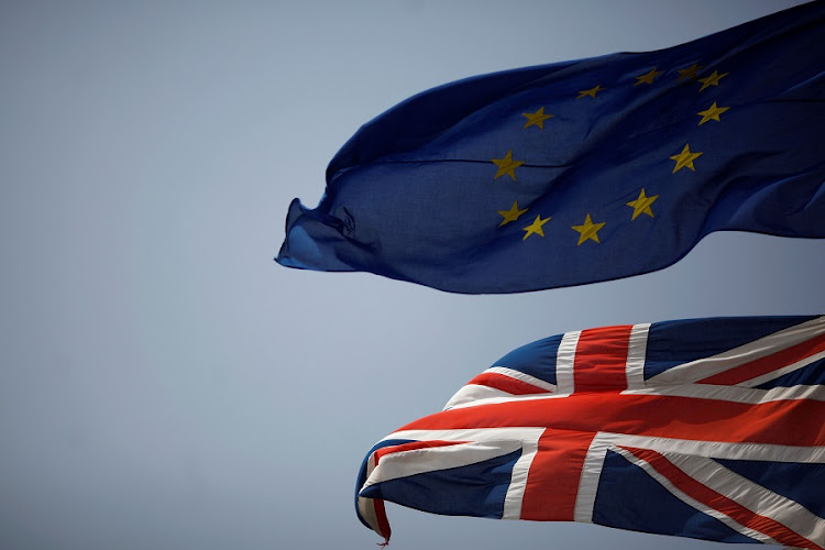 The Union Jack and the European Union flags. Picture: REUTERS/JON NAZCA