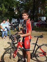 Photo: Fin de course pour Cédric.