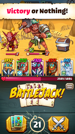 Battlejack: Blackjack RPG screenshot 1