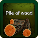 Pile of wood icon