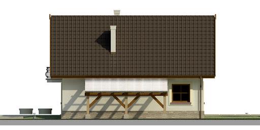 Dom przy Pomarańczowej - Elewacja prawa