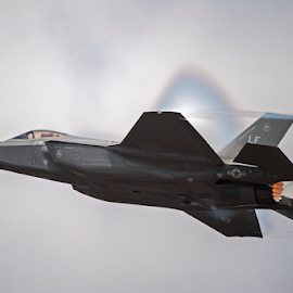 F-35A Lightning II RIAT 18 by Steve Wright - Transportation Airplanes ( lightning, usaf, f-35, warplane, fighter, riat )