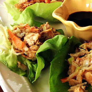 Champagne Chicken Lettuce Wraps.