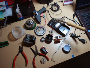 Photo: Placing all the possible materials that would be used for this project on my desk.