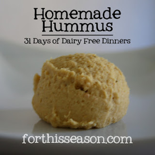 Homemade Hummus (Dairy Free Recipe)