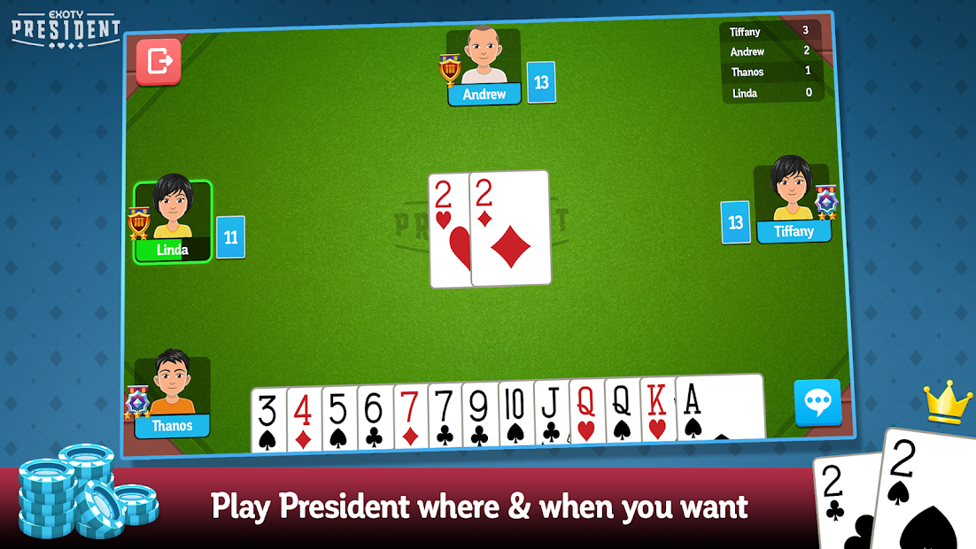 President with friends ! Android App Screenshot