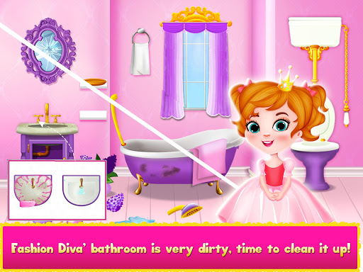 Princess Doll House Cleanup & Decoration Games screenshots 7