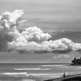 Moving On by Purnawan  Hadi - Landscapes Cloud Formations ( bali, indonesia, cloud, beach, black and white, b and w, landscape, b&w, monotone, mono-tone )