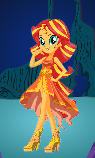 Dress up Sunset Shimmer
