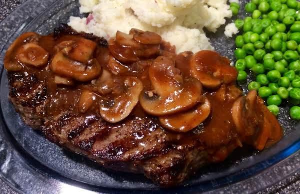 Grilled Sirloin Steak With Mushroom-wine Sauce Recipe