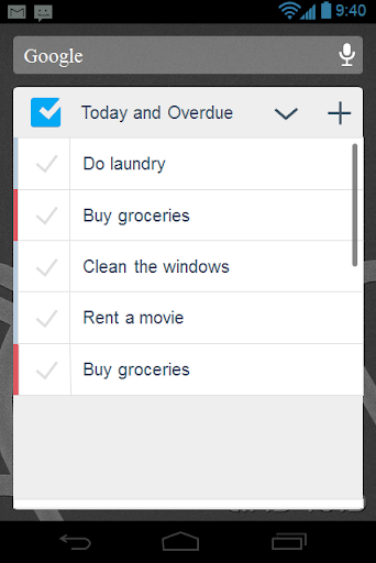 Checklist screenshot 7