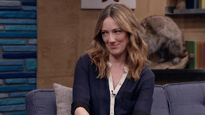 Judy Greer Wears a Navy Blouse and Strappy Sandals thumbnail