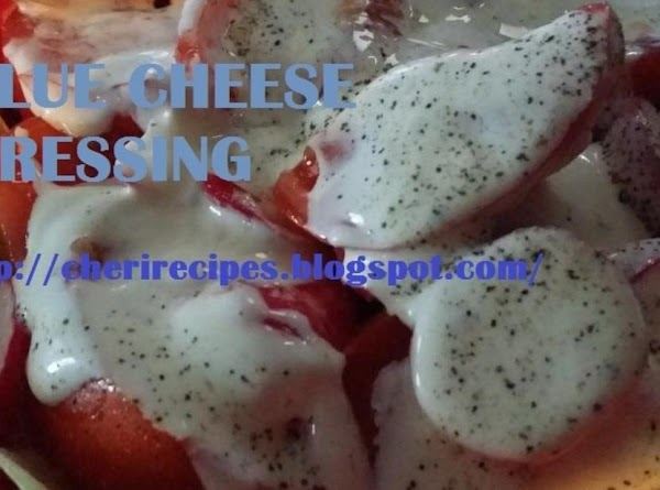 Fresh Garden Salad And Creamy Blue Ch Recipe