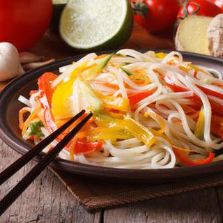 Lime Ginger Veggie Rice Noodles