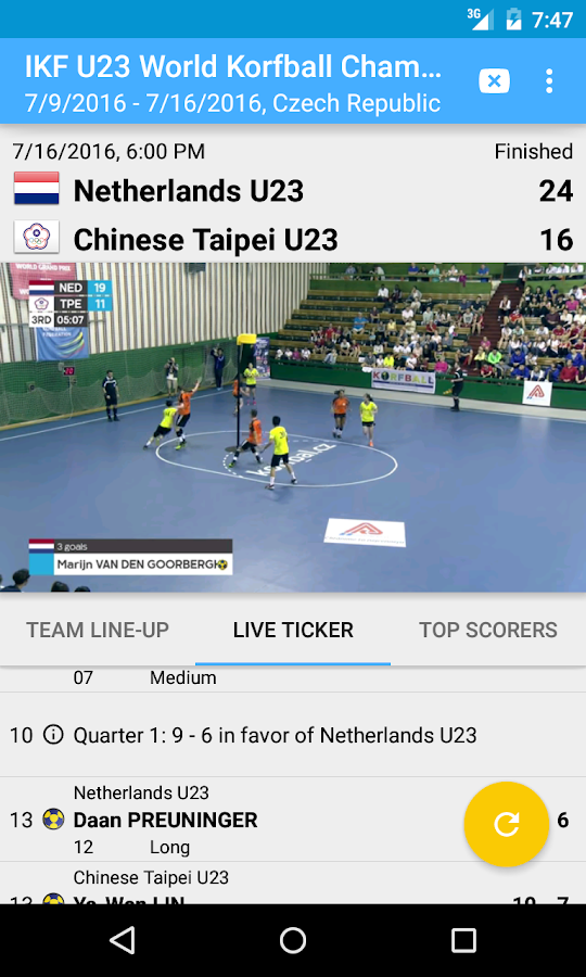 World Korfball- screenshot