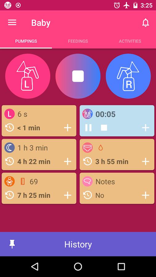 Breastfeeding Tracker Pump Log And Baby Diary Android