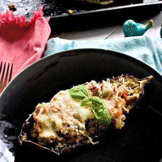 Italian Stuffed Eggplant with Ground Veal Recipe