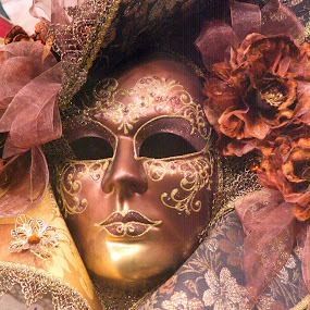 Venetian Carnival Mask by Graham Sivills FBCS - Artistic Objects Clothing & Accessories ( carnival, masquerade, venice, mask,  )