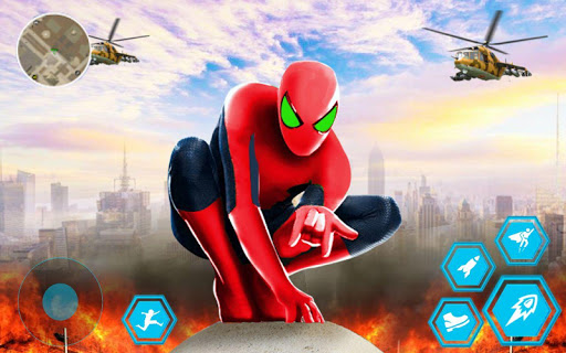 Spider Rope Hero Man: Miami Vise Town Adventure لقطات شاشة 1