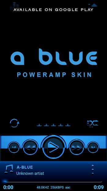 A-BLUE Poweramp Widget V2