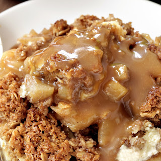 Apple Cheesecake Crisp (gluten-free, 100% whole grain)
