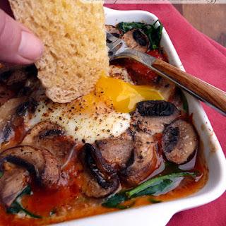 Italian Spinach Mushroom Baked Eggs