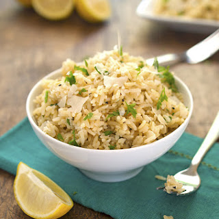 Lemon Parmesan Brown Rice