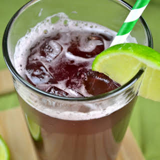 Homemade Sparkling Grape Soda.