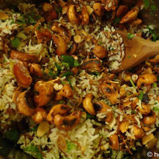 Lebanese Rice With Spicy Nuts And Raisins