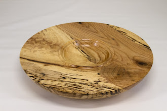 "Photo: Tim Aley 9 3/4"" x 2"" bowl [spalted oak]"
