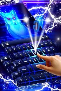 Animal Neon Keyboard Free Theme - náhled
