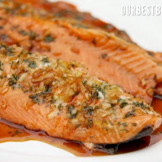 Orange Teriyaki Salmon.