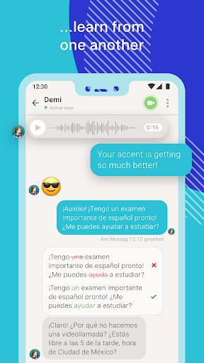 Screenshot for Tandem Language Exchange: Speak & learn languages in Hong Kong Play Store
