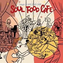 """Photo: CD package design & illustration for """"Soul Food Cafe""""."""