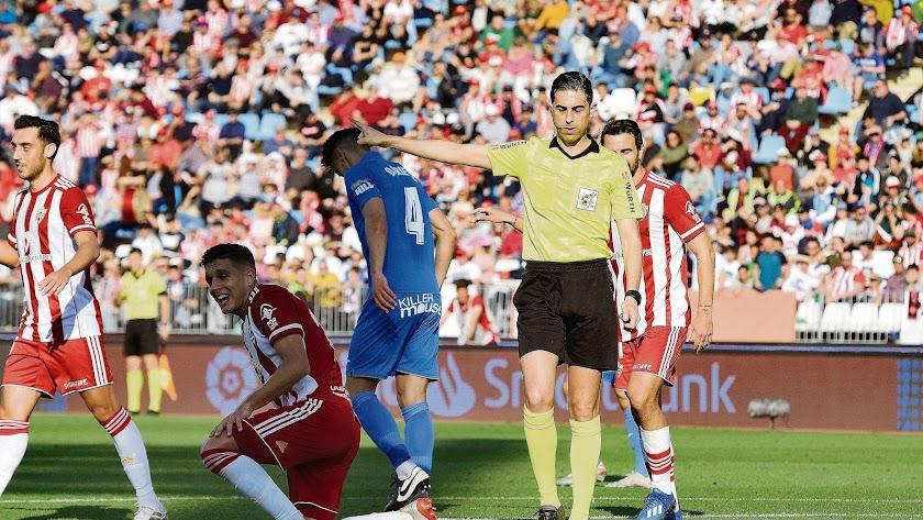 Bikandi Garrido en el Almería-Fuenlabrada del curso anterior.