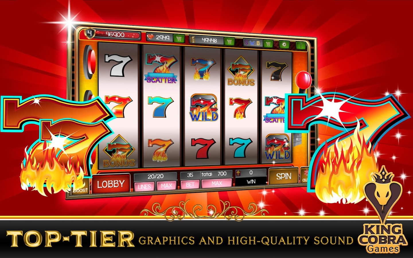triple lucky sevens free slots five reel