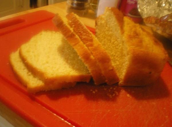 "Slice cornbread 1/4""."
