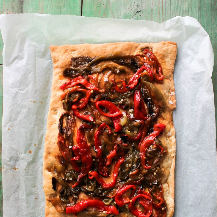 Flatbread with Peppers Recipe