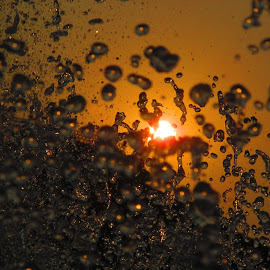 Through the splashes by Sourav Saha - Abstract Water Drops & Splashes ( sunset, splash water photography,  )