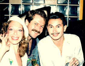Photo: Daryl Reis and friend with Chris Malig @ Congo Blue, Canton Disco 1987